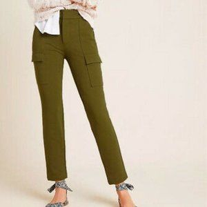 NWT Anthropologie Olive Green Knit Cargo Pants 6